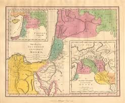 A New Map Of Jewish by Antique Maps Of The Holy Land