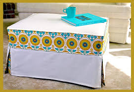 Ottoman Cover Chic Slipcover Makes An Ottoman New And Cool Again Sew4home