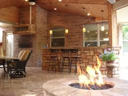 Outdoor Fireplace Houston by Outdoor Heating Outdoor Living Space Design
