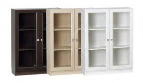 Glass Bookcase With Doors Small Bookcase With Glass Doors Foter