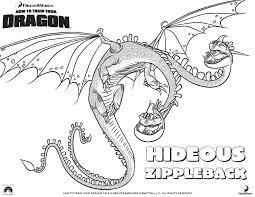 hideous zippleback coloring pages 만화영화 색칠공부 dragons