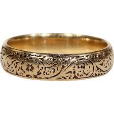 engrave wedding ring antique engraved wedding band ring 18k gold hallmarked 1902