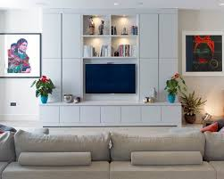 Tv Wall Decor by Contemporary Living Room Idea In With A Wall Mounted Tv