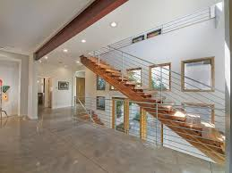interior red and white stair architecture of modern design idea