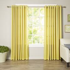 Yellow Striped Curtains Furniture Pinch Pleat Curtains Insulated Curtains Grommet Patio