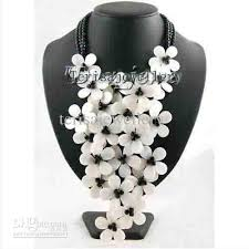white beads necklace images New arrive white color natural shell black onyx crystal bead jpg