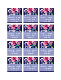 printable favor tags template floral wedding thank you tags