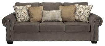 ashley emelen chenille sofa alloy transitional sofas by