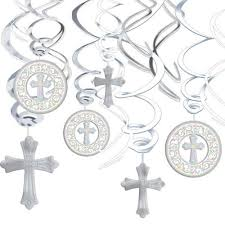 confirmation party supplies cross party hanging decorations the catholic company