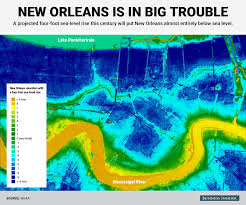 Bourbon Street New Orleans Map by This Shocking Elevation Map Shows Just How Screwed New Orleans