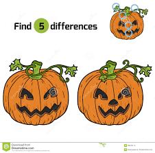 find differences halloween pumpkin stock vector image 60676174