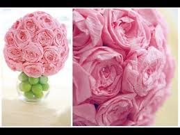Paper Flowers Video - how to make easy crepe paper flower beautiful flowers video
