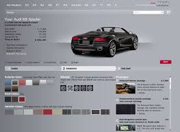 audi r8 configurator base versus loaded 2012 audi r8 spyder 5 2 winding road