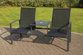 Garden Benches Bromsgrove Royal Craft Companion 2 Seater Anthracite Pvc Coated Polyester
