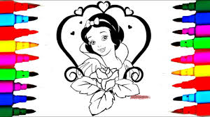coloring book snow white disney princess coloring pages kids
