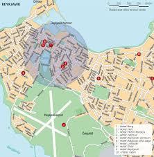 reykjavik iceland tourist map reykjavik u2022 mappery