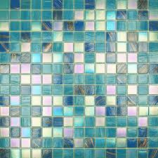 Teal Tile Backsplash by Mosaic Tiled Els Homes