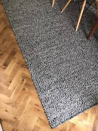 ikea basnas large wool rug 300x200cm grey black white carpet in