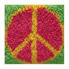 Latch Hook Rugs Peace Sign Shaggy Latch Hook Kit Latch Hook Rug Kits At Weekend Kits