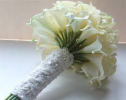 Calla Lily Bouquets Calla Lily Bouquet Brooch Bouquet White By Polishedbouquetdsgn