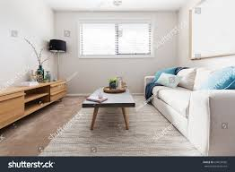 teal livingroom scandi style living room interior teal stock photo 694033936