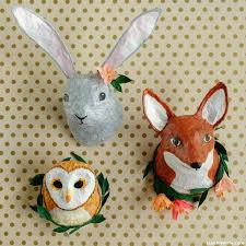 paper mache rabbit paper mache animal heads diy tutorial