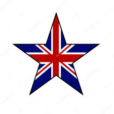 Great Britain Flag Star In Great Britain Flag Color Isolated On White Background