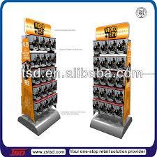 tsd m749 factory floor standing dvd metal display stand double