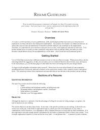 Best Resume Categories by Good Resume Objectives Samples Haadyaooverbayresort Com