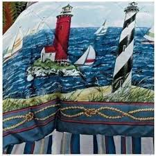 Nautical Twin Comforter Nautical Living Lighthouse Sailboat Nautical Twin Comforter Sham