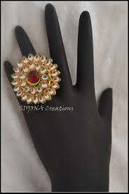 big rings online images Siyona sarees kundan ring big jewelry fancy designer sarees JPG