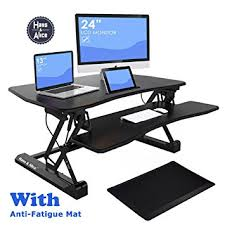 Office Desk Risers 36 Wide Height Adjustable Sit Stand Desk Riser Stand