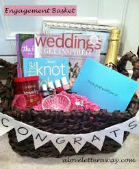 engagement gift baskets wedding a letter away