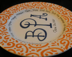 personalized ceramic wedding plates personalized wedding plate painted ceramic wedding