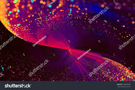 abstract background lights particles glitter wave stock