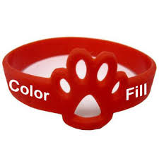 silicone rubber wristband bracelet images Cut paw pride paw accessories support bracelets jpg