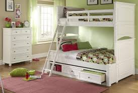 Bunk Bed Storage White Twin Over Full Bunk Bed Storage Fun White Twin Over Full