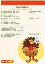 thanksgiving songs for children five turkeys turkey