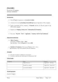 resume format doc file download how to write a good