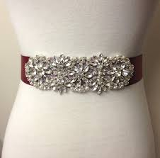 wedding dresses with sash ribbon wedding gown sash burgundy sash maroon sash rhinestone