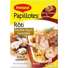 comment cuisiner roti de porc papillotes de rôti thym et fines herbes maggi