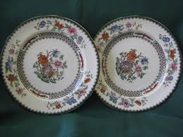 two copeland spode plates 7 1 2 pattern from