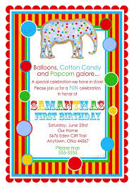 carnival birthday invitations u2013 gangcraft net