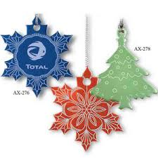 tree shaped ornaments custom imprinted with your logo
