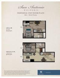 Unit Floor Plans San Antonio Residence Fact Sheet U0026 Floor Plan