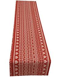 red and white table runner nordic red white christmas table runner 12x70in 30x177cm approx