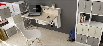 bureau 100 cm bureau design rétractable u line mob in le design pas cher