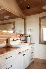 farmhouse sink vanity bathroom contemporary with angled corner
