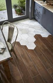 hexagon marble with wood look porcelain tile trend 2017 i have