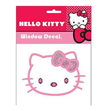 kitty sanrio face head pink bow pink gem crystals